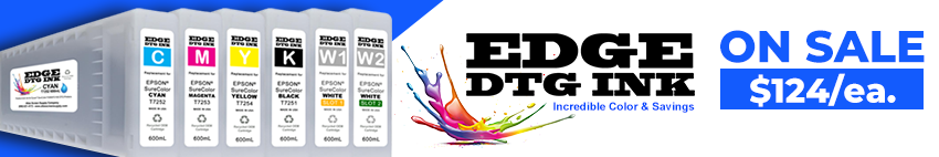EDGE DTG INK for Epson F2000/F2100 Printers